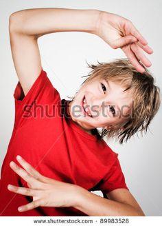 amusing child - stock photo