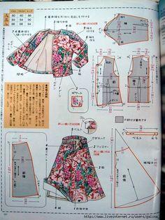 Top n skirt pattern: Japanese Sewing Patterns, Pdf Sewing Patterns, Sewing Tutorials, Clothing Patterns, Sewing Clothes, Diy Clothes, Pattern Cutting, Pattern Drafting, Jacket Pattern