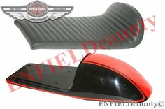 COMPLETE SEAT STEEL BLACK ORANGE BENELLI MOJAVE CAFE RACER 260 360 MOTORCYCLE