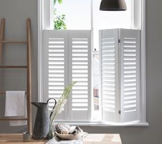 Café Style Shutters Are The Shutter For Stylish Street Front Rooms Covering Only