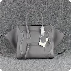 Celine Emerald Green Calfskin Leather Small Phantom Luggage Tote Bag