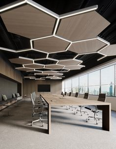 Timba Hexagonal Acoustic Bespoke Feature Ceiling