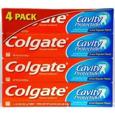 Colgate Cavity Protection Fluoride Toothpaste, Regular || Skin Deep® Cosmetics Database | EWG