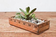 Succulent Ruler Yardstick Planter Box (I'm so making this)