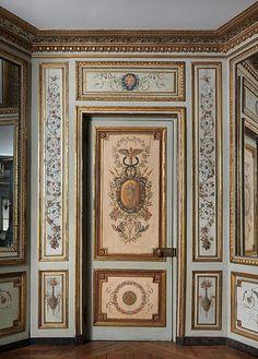 Boudoir from the Hôtel de Crillon Author: Pierre-Adrien Paris (1747–1819) Date: ca. 1777–80 Culture: French, Paris Medium: Oak, painted and gilded