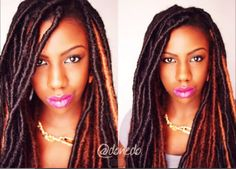 This Faux Locs Tutorial demonstrates how to create beautiful, colorful locs to protect your natural hair. Check it out!
