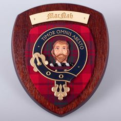 MacNab Clan Crest Wall Plaque. worldwide shipping available