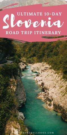 The ultimate 10-day Slovenia road trip itinerary. Start your trip in Ljubljana and visit the castle or enjoy the amazing food. Travel to Lake Bled where you can visit Vintgar Gorge. The Soca Valley, famous for its Soca River, features The Kobarid Historical Trail and perfect opportunities to picnic or make a stop in Bovec for lunch. Explore the Vipava Valley and it's Škocjan Caves or the iconic Predjama Castle. Slovenia road tripping. | Bridges and Balloons #Slovenia #Ljubljana #Travel…