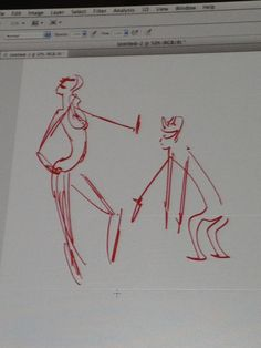 Story - contextualizing your drawing.  In the photo below Matt demonstrates how simple it is to create story out of the model's pose by adding the figure on the right.