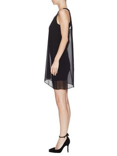Loose Tank Dress with Leather Trim from alice + olivia Apparel on Gilt