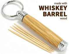 Always have a toothpick on hand. Made from a real whiskey barrel! A great gift for the toothpick and whiskey lover on your list! Flavored Toothpicks, Groomsmen Gifts Unique, Handmade Gifts For Men, Whiskey Gifts, Art Of Manliness, Wood Gifts, Custom Wood, Makers Mark, Gifts For Him