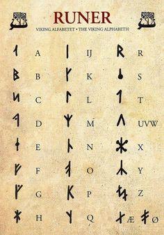 Runes – Viking Alphabet by yvonne – Norse Mythology-Vikings-TattooYou can find Norse mythology and more on our website.Runes – Viking Alphabet by yvonne – Norse Myt. Alphabet Code, Alphabet Symbols, Viking Runes Alphabet, Sign Language Alphabet, Nordic Alphabet, Braille Alphabet, Alfabeto Viking, Different Alphabets, Hand Lettering