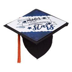 Shoot for the Moon Graduation Cap Topper #moon #stars #quote #outer #space #GraduationCapTopper Graduation Cap Tassel, Graduation Theme, Graduation Cap Toppers, Graduation Cap Designs, Graduation Cap Decoration, Graduation Photoshoot, Graduation Quotes, Grad Cap, Graduation Ideas