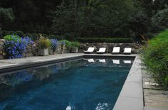pool plaster colors pool in Pool Contemporary with custom gunite swimming pool chaise lounge Gunite Swimming Pool, Swimming Pool Designs, Pool Plaster Colors, Moderne Pools, Pool Colors, Pool Picture, Rectangular Pool, Cool Pools, Pool Landscaping