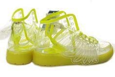 super popular 12ddf fa5dc Tenis Adidas Originals Jeremy Scott Transparentes  Neon