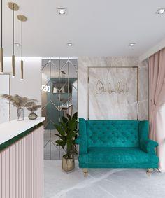 Home Beauty Salon, Beauty Salon Decor, Beauty Salon Design, Spa Interior Design, Boutique Interior, Nail Salon Decor, Modern Nail Salon, Room Decor Bedroom, Diy Room Decor