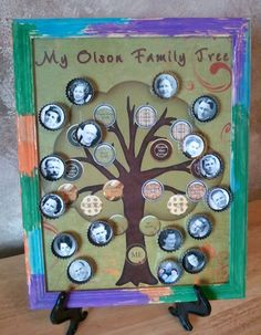 Love the idea of a bottle cap bingo game or family tree game where you try to get as many baby pictures on the family tree as possible.