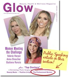 Speak with #Confidence and Rule the World!  Check out my GLOW Beauty magazine article. #GiveFearTheFinger   http://viewer.zmags.com/publication/bcefdab8#/bcefdab8/78