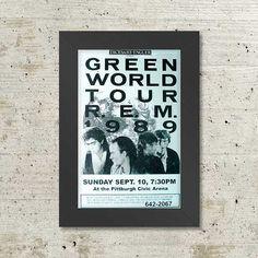 R.E.M. Green World Tour 1989 Framed Concert Sheet by by Innerwallz