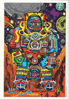 The Vault of Retro Sci-Fi — spaceintruderdetector: Jack Kirby- Robot 1966 Jack King, Psychedelic Art, Kirby, Jack, Marvel Comic Universe, Art, Jack Kirby Art, Jack Kirby, Comic Panels