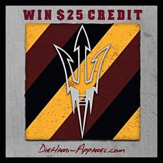 CHRISTMAS GIVEAWAY: Win $25 Credit towards DieHard Sun Devil Apparel! Simply click for Instagram then TAG a friend to enter #ForksUp ——€ DieHard-Apparel.com