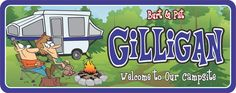 Campsite Welcome Sign, Personalized RV Décor With Cartoon Couple Sitting At Fire, Custom Sign, Outdoorsy Gift