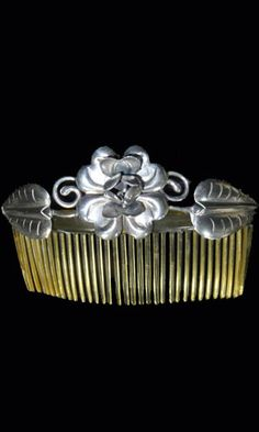 Vintage Mexican Silver Hair Comb