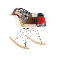 Eames Style RAR Rocking Arm Chair Special Patchwork Upholstery -- Check out this great product. Upholstered Rocking Chairs, Eames Rocking Chair, Plastic Rocking Chair, Mission Chair, Patchwork Chair, Vintage Porch, Patterned Armchair, Round Chair, Camping Chairs