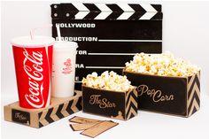Popcorn Packaging | Re-brand by Lilya Kovalenko, via Behance
