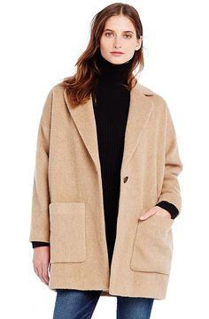 { armani exchange wool cocoon coat }