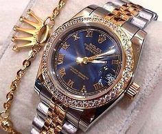 Image shared by Find images and videos about gold, diamond and rolex on We Heart It - the app to get lost in what you love. Latest Women Watches, Trendy Watches, Luxury Watches For Men, Men's Watches, Elegant Watches, Cute Jewelry, Jewelry Accessories, Men's Jewelry, Expensive Watches