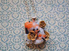 Koi fish necklace. Wearable, polymer clay art.. $22.50, via Etsy.