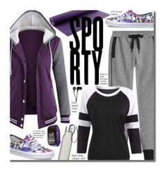"""""""Go Sporty!"""" by beebeely-look ❤ liked on Polyvore featuring adidas, Vans, Eva Solo, Skullcandy, sporty, sweatpants, sneakers, sportystyle and twinkledeals"""