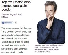 doctorwho:  Top five Doctor Who themed outings in London via anglophenia  1. Take a tour Brit Movie Tours offers a Doctor Who Walking Tour, taking visitors on a capital adventure looking at Doctor Who locations from the past 50 years, accompanied a Whovian expert guide. Visitors will get to glimpse 15 'set-jetting' locations, including sites featured in The Invasion, Remembrance of the Daleks and more recently, Rose. Tours run at 11am on August 11 and 25, September 29, October 27 and over the 50th anniversary weekend, November 23 and 24. Each sessions runs for approximately 2 ½ hours and costs £12 for adults and £10 for children. Find out more or book a place2. Visit an iconic landmark Many of the capital's iconic landmarks have taken centre stage in recent times. When the Doctor met Shakespeare, they filmed inside Shakespeare's Globe Theatre. Today, the Globe Exhibition and Tour gives visitors an opportunity to channel their inner David Tennant and learn more about this unique building and its most famous playwright. Even the most upmarket addresses in London have featured in Doctor Who. Buckingham Palace narrowly missed being hit by the Spaceship Titanic in the 2007 Christmas special Voyage of the Damned, while the Slitheen infiltrated 10 Downing Street in 2005 episode, Aliens of London.  Click here to see the rest of the list!