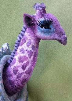 Fantasy Giraffe Trophy Sculpture OOAK