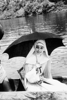 Audrey Hepburn photographed during the filming of The Nun's Story, 1958