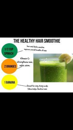 Healthy hair juicing recipe.