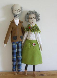 Matilde Beldroega. Adorable grandparents dolls.