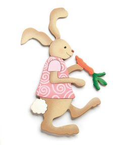 Embellish your story by Carol Roeda Bunny with Carrot Easter Magnet Demdaco picclick.com