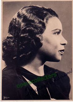 American contralto (1897-1993), signed photo as herself 3.25 x 4.25 inches.