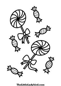 lollipop coloring pages to print coloring page of lollipops and candies coloring pages