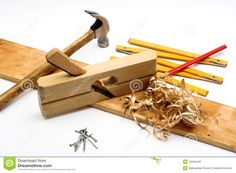 Teds Woodworking® - Woodworking Plans & Projects With Videos - Custom Carpentry — TedsWoodworking Carpenter Tools, White Background Photo, Woodworking Tools, Stock Photos, Canada, Tools For Working Wood
