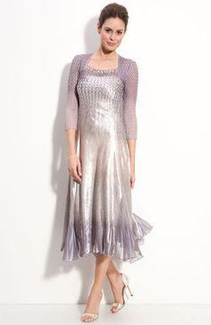 ShopStyle: Komarov Faux Two-Piece Pleated Charmeuse Dress