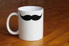 "Tasse ""Moustache"" // cup by zeug&gold via DaWanda.com #movember"