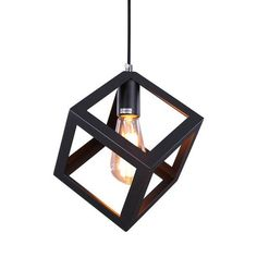 Featuring an open cube cage design, this  one light cage pendant light has a distinct style that will make it a focal point in your space. The pendant light  will enhance your foyer, dining room, or living room with its linear sleek charm. This one light mini pendant can complement any rooms.