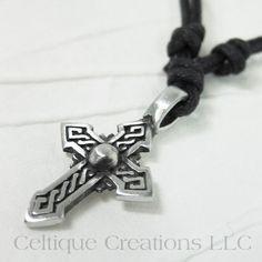 Pointed Celtic Cross Necklace Ajustable Fine Pewter #celtic #celticcross #celticnecklace #celticjewelry #celtiquecreations