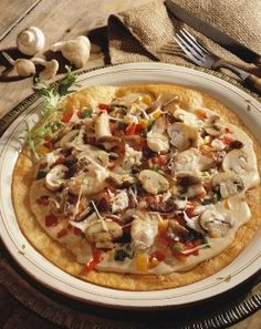 Mushroom and Crab Meat Mexican Pizza