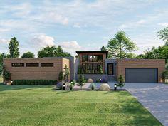 050H-0210: Contemporary House Plan; 2923 sf