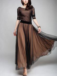New Full Circle Chiffon Skirt Long Skirt Gauze Skirt s 3XL | eBay