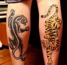 Leopard Tattoos : Page 28 Leopard Print Tattoos On Thigh